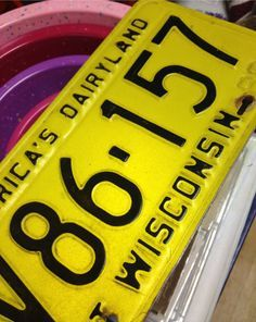 bumble bee license plates - I had these on my first car in 1978