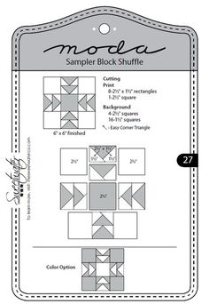 Moda Sampler Bloc Shuffle - Block 27