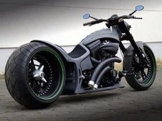 Flat-black Custom Chopper!
