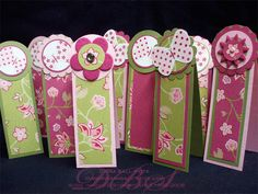 Flight of the Raspberry Bookmarks Group by paperball - Cards and Paper Crafts at Splitcoaststampers