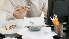 """Eating at your desk day after day? Research suggests """"staying inside, in the same location, is really detrimental to creative thinking,"""" says management professor Kimberly Elsbach. Workplace Wellness, Band Wallpapers, Brain Food, Take A Break, Creative Thinking, How To Run Longer, Lunch, Health, Professor"""