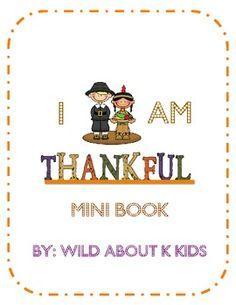 I am Thankful Book Nice activity to do.