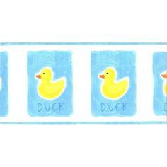 Rubber Duckies Ducks Pre Pasted Wall Border Nursery or Bathroom Decor by Norwall | eBay $7 15 ft