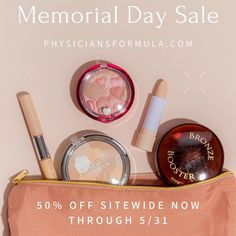 What's better than a long weekend? A major sale! 🛍️ Now through Monday 5/31, score 50% OFF site wide at physiciansformula.com! Use promo code PFMDW. Hypoallergenic Makeup, Physicians Formula, Long Weekend, Memorial Day, Sensitive Skin, Skin Care, Skincare Routine, Skins Uk, Skincare