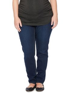 1f90b1ca2cb08 Plus size Secret Fit Belly 5 pocket skinny leg maternity jeans by Jessica  Simpson available at Destination Maternity