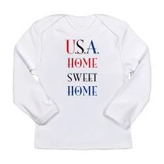 U.S.A. Home Sweet Home Long Sleeve T-Shirt> USA Home Sweet Home> Victory Ink Tshirts and Gifts