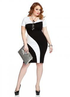 92234651801 25 Stylish Black   White Plus Size Formal Dresses - Plus Size Women Fashion
