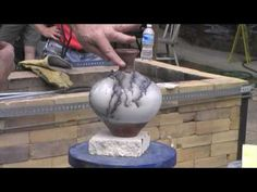This is how to do horse hair raku! Great prep and demo with sugar and horse hair.▶ Riggs Horsehair Raku Demo - YouTube