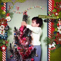 Digital Scrapbook Page by Keley | Jolly Holiday by Bella Gypsy