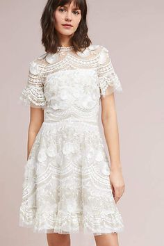 Shoshanna Blanche Embroidered Dress #anthropologie #anthrofave #style #fashion