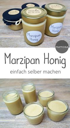 Make marzipan honey yourself A great recipe for a quick gift from the kitchen. Delicious Make marzipan honey yourself A great recipe for a quick gift from the kitchen. Fall Desserts, Dessert Recipes, Pumpkin Spice Cupcakes, Baking Ingredients, Guacamole, Nutella, Eat Cake, Great Recipes, Food To Make