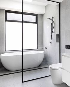 😬 This BLUE DREAM in the pretty Melbourne 'burb of Elsternwick sets the bar intimidatingly high for First Time Renovators . Wet Room Bathroom, Family Bathroom, Diy Bathroom Decor, Bathroom Layout, Modern Bathroom Design, Bathroom Interior Design, Small Bathroom, Bathroom Ideas, Bathroom Organization