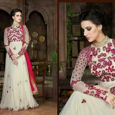 White beautifully embroidered anarkali suit Product Detail :  TOP -NET WITH HEAVY HAND WORK BOTTOM -SANTOON  INNER -SANTOON DUPATTA -NAZNIN  Sale Price : 2200 INR Only ! #Booknow  CASH ON DELIVERY Available In India !  World Wide Shipping !   For orders / enquiry  WhatsApp @ 91-9054562754 Or Inbox Us  Worldwide Shipping !  #SHOPNOW  #lahengacholi #onlineshopping #bridalwear #glamour #style #quallity #pakistanifashion #designersaree #salwarkameez #patiyalasuits #punjabisuit #fashioninsta…