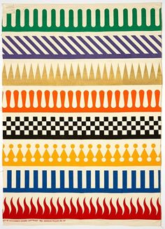 One of the famous Alexander Girard ultra colourful, deceptively simple rudimentary geometric patterns for Herman Miller - Geometric Patterns, Color Patterns, Print Patterns, Modern Patterns, Japanese Patterns, Floral Patterns, Motifs Textiles, Textile Patterns, Textile Pattern Design