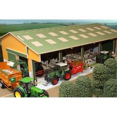Brushwood Toys Model Farm Buildings - Wooden Scale Farmyard Sheds & Barns Wooden Toy Barn, Farm Shed, Kids Play Table, Farm Images, Farm Trucks, Farm Toys, Mini Farm, Farm Gardens, Miniture Things