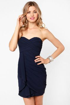 Sultry Navy Blue Dress - Strapless Dress - $71.00.  Love this one!