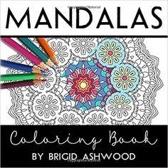 Amazon Mandalas Coloring Book 9781514768235 Brigid Ashwood Books