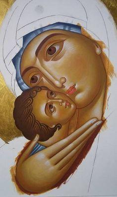 Religious Images, Religious Icons, Religious Art, Byzantine Icons, Byzantine Art, Writing Icon, Religious Paintings, Holy Mary, Art Thou