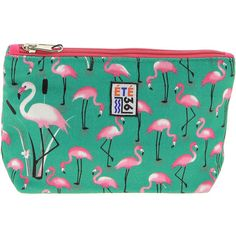 Eté 36 Vintage Flamingo Print Canvas Toiletry Bag (56 BRL) ❤ liked on Polyvore featuring beauty products, beauty accessories, bags & cases, multi, toiletry kits, travel toiletry case, travel bag, purse makeup bag and makeup bag case