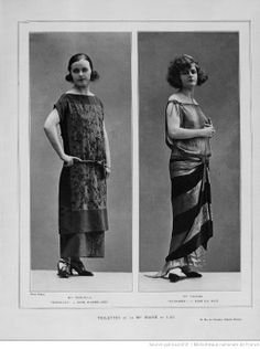 Les modes (Paris), November 1923. Two very different hairstyles.