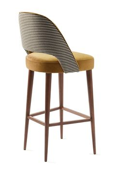 Buy Ava Bar Chair by Divya & Victoria Group - Made-to-Order designer Furniture from Dering Hall's collection of Mid-Century / Modern Stools, Ottomans & Poufs Kitchen Stools, Counter Stools, Bar Stools, Chaise Haute Bar, Chaise Bar, Deck Furniture, Luxury Furniture, Furniture Design, Modern Stools