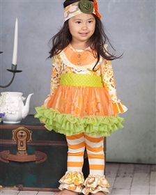 Giggle Moon Baby - Thankful Hearts Tutu Dress & Legging Set