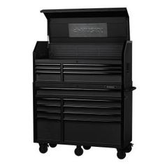 The Husky 56 in. W, 22 in. D with 23 drawers Tool Chest and Cabinet Set is a heavy duty, steel, tool storage unit that is rated for lb. This tool chest and cabinet set Mobile Workbench, Soft Close Drawer Slides, Rubber Grommets, Tool Storage, Workshop Storage, Butcher Block Countertops, Electronic Recycling, Wooden Tops, Tool Steel