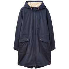 Joules Right as Rain Stormont Waterproof Parka found on Polyvore featuring outerwear, coats, jackets, marine navy, long coat, long navy coat, quilted coat, water resistant coat and waterproof coat