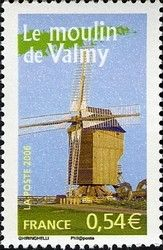 Sello: The mill of Valmy (Francia) (Portraits of regions 8 - France to live) Yt:FR 3949