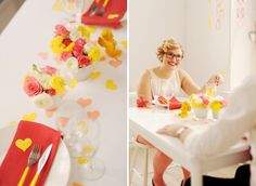 A VALENTINE'S DINNER IN BRIGHT YELLOW AND CORAL
