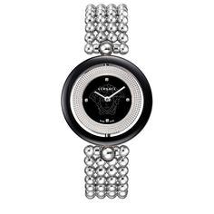 Versace 79Q99A9D008-S099 Women's  Eon Black Dial Steel Daimond Bracelet Watch