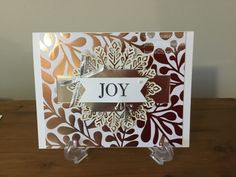 #Christmas card # Stampin Up Cheers to the Year # Joy
