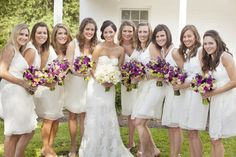 White Lela Rose bridesmaids dresses   Photography by www.millieholloman.com/