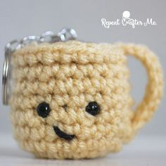 You love coffee and just want the rest of the world to know. Exercise your crocheting muscles and create these adorable crochet coffee mugs! For full post click here. By: Repeat Crafter Me