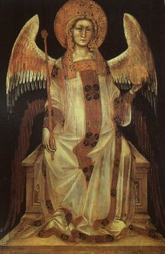 Nardo di Cione ~ Italian Gothic ~ 1350-ca.1400 ~ Angel ~ 1357 ~ Nardo di Cione, was an Italian painter, sculptor and architect from Florence. He was the brother of the more accomplished Andrea di Cione, called Orcagna, as well as Jacopo di Cione; they were important members of the Painter's Guild of Florence.