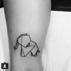 Geometric elephant tattoo