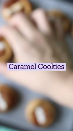 Cute Desserts, Delicious Desserts, Yummy Food, Baking Recipes, Cookie Recipes, Dessert Recipes, Caramel Cookies, Food Crafts, Food Cravings