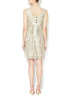 Corded Lace Bow Detail Dress by Dolce & Gabbana at Gilt
