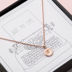 Just My Type Necklace | hardtofind. valentines gift boyfriend, valentines gift girlfriend, valentines gift wife,valentines gift husband