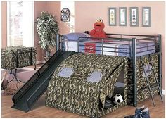 Fun Bunk Beds For Boys | Bunk Bed With Slide and Tent