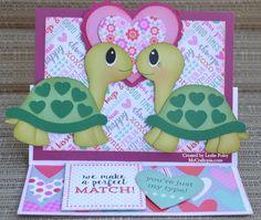 San Valentín 's Turtley en papel hecho a mano de por MyCraftopia