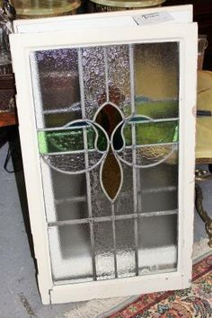 Antique English Stained Leaded Glass Windows from a cottage in England!