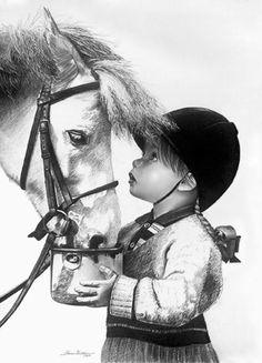 """""""Pals"""" - pencil drawing by Sherrie Kosutura, via Northwest Art League"""