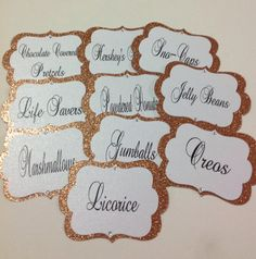 Custom Candy Buffet Tags by SweetLoveCandy on Etsy, $22.50