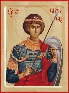 foto van N Theologhia Baba. Byzantine Icons, Byzantine Art, Religious Icons, Religious Art, Religious Paintings, Archangel Michael, Orthodox Icons, Saint George, Christian Art