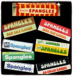 Mars Spangles Flavours - loved the acid drops. These were the best sweets of my childhood. You could always afford a packet of spangles. 1970s Childhood, My Childhood Memories, Sweet Memories, Old Sweets, Vintage Sweets, Vintage Toys, Retro Sweets Uk, Vintage Stuff, Vintage Photos