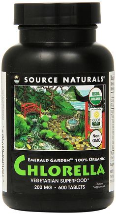 Source Naturals Emerald Garden 100% Organic Chlorella 200mg, Vegetarian Superfood, 600 Tablets ** Review more details here : Herbal Supplements