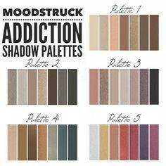 All 5 Younique Addiction Palettes! com Younique Eyeshadow, Eyeshadow Palette, Eyeshadow Set, Eye Makeup, Makeup Tips, Makeup Products, Makeup Ideas, Glow Makeup, Lush Products