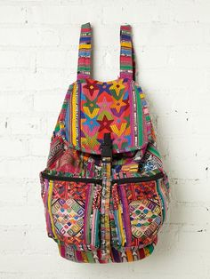 Stela 9 Santiago Patchwork Backpack from Free People. This is inspiration for a DIY backpack. Ward Elizabeth did your mom ever fix my zipper on my backpack? Festival Coachella, Look Festival, Mochila Hippie, Hippie Boho, Bohemian Style, My Bags, Purses And Bags, Diy Backpack, Travel Backpack