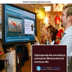 #Digitalsigns help with #cross-#selling by #promoting the different #products…